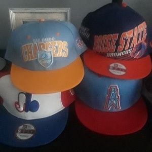 Snap back hats.  Some 5950 some Mitchell and ness